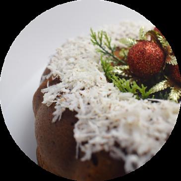 Torta de coco y arándanos