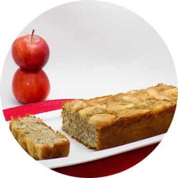 Torta de manzana y coco