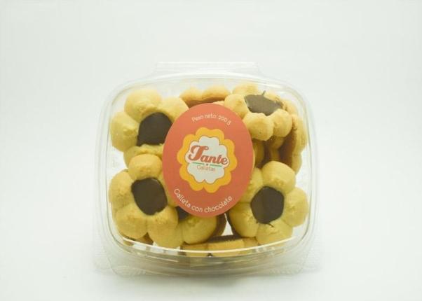 Galletas de chocolate en caja